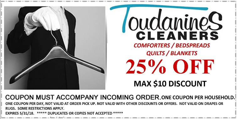 Toudanines Website Comforter Coupon Exp May 2018