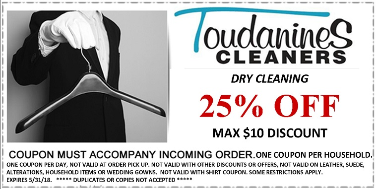 Toudanines Website DC Coupon Exp May 2018